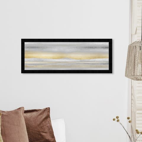 Oliver Gal 'Love Has Awaken' Abstract Framed Wall Art Prints Textures - Gray, Gold