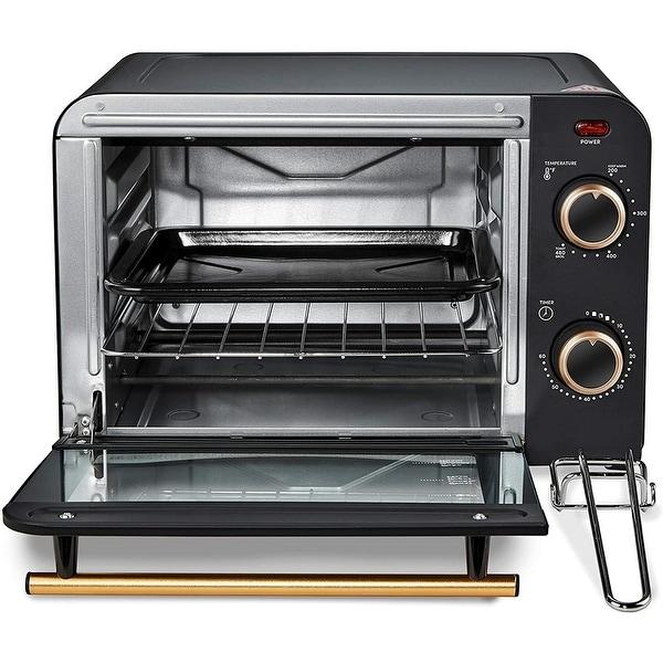 Americana 4 Slice Retro Counter-top Toaster Oven-ETO1200B- Black. Opens flyout.
