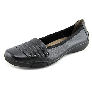 Array Willow Women W Square Toe Leather Black Flats
