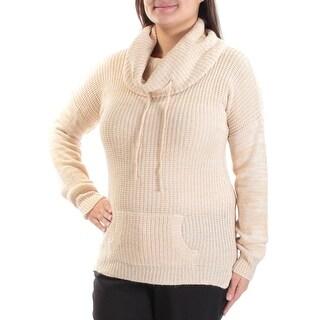 Womens Beige Long Sleeve Cowl Neck Sweater Size XL