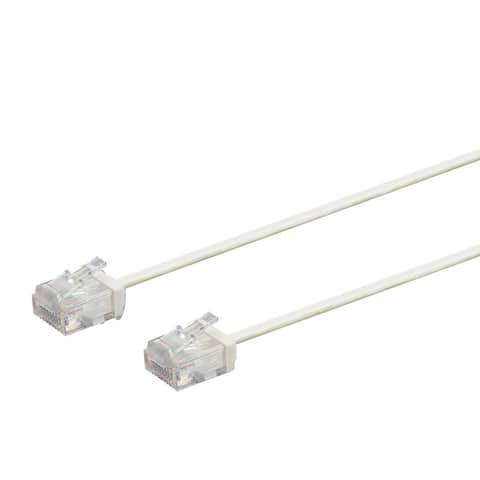 Monoprice Cat6 Ethernet Patch Cable - 3ft - White Stranded, 550MHz,