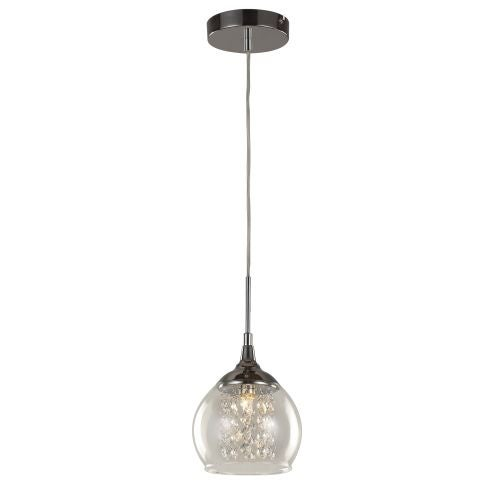 Trans Globe Lighting MDN-1217 Glass and Crystal 1 Light Mini Pendant