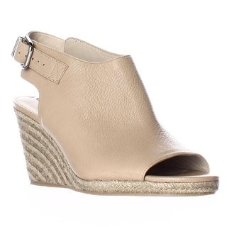 Via Spiga Ingrid Peep Toe Espadrille Wedge Sandals, Nude