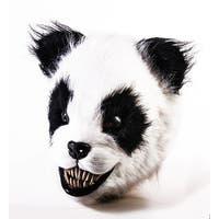 Scary Panda Latex Adult Costume Mask - Multi
