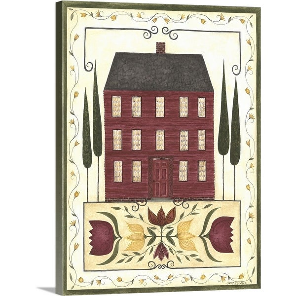 """""""Red House"""" Canvas Wall Art"""