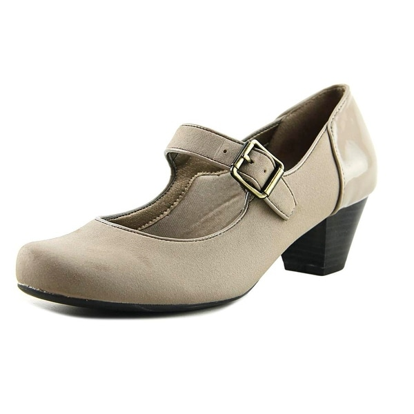 Life Stride Reese Women Round Toe Synthetic Nude Mary Janes