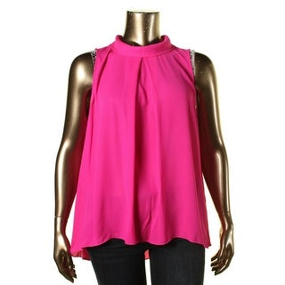 Vince Camuto Womens Front Pleat Collar Blouse - XL