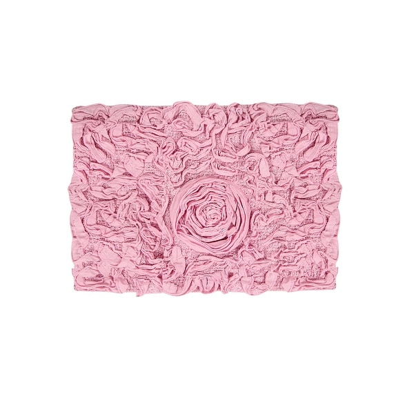 """Bell Flower Collection Cotton Bath Rug 17""""x24"""". Opens flyout."""