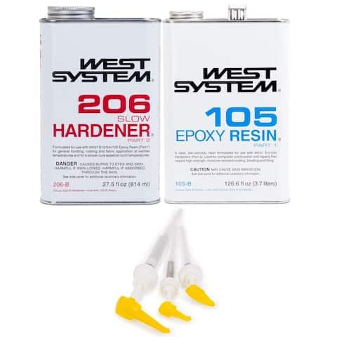 West System 105-B Epoxy Resin with Slow Epoxy Hardener & Mini Pump Set