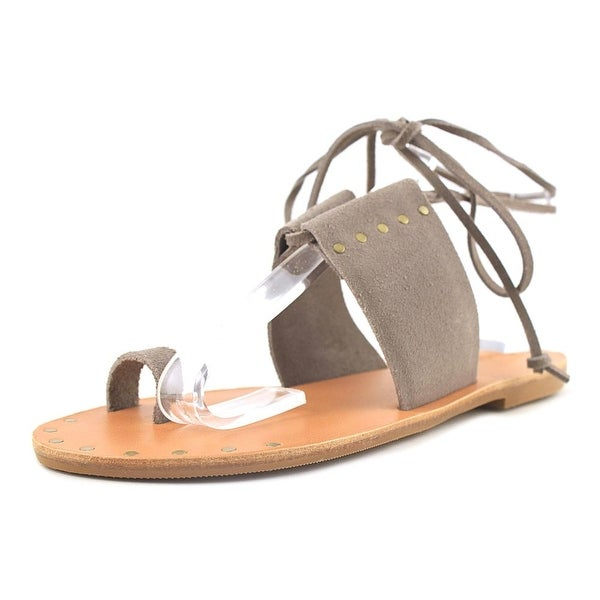 Soludos Milos Ankle Wrap Dove Grey Sandals