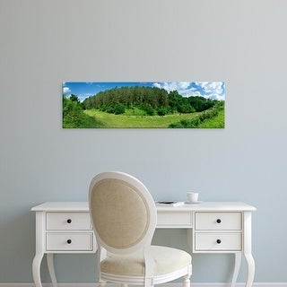 Easy Art Prints Panoramic Images's 'Road through forest, Corneville