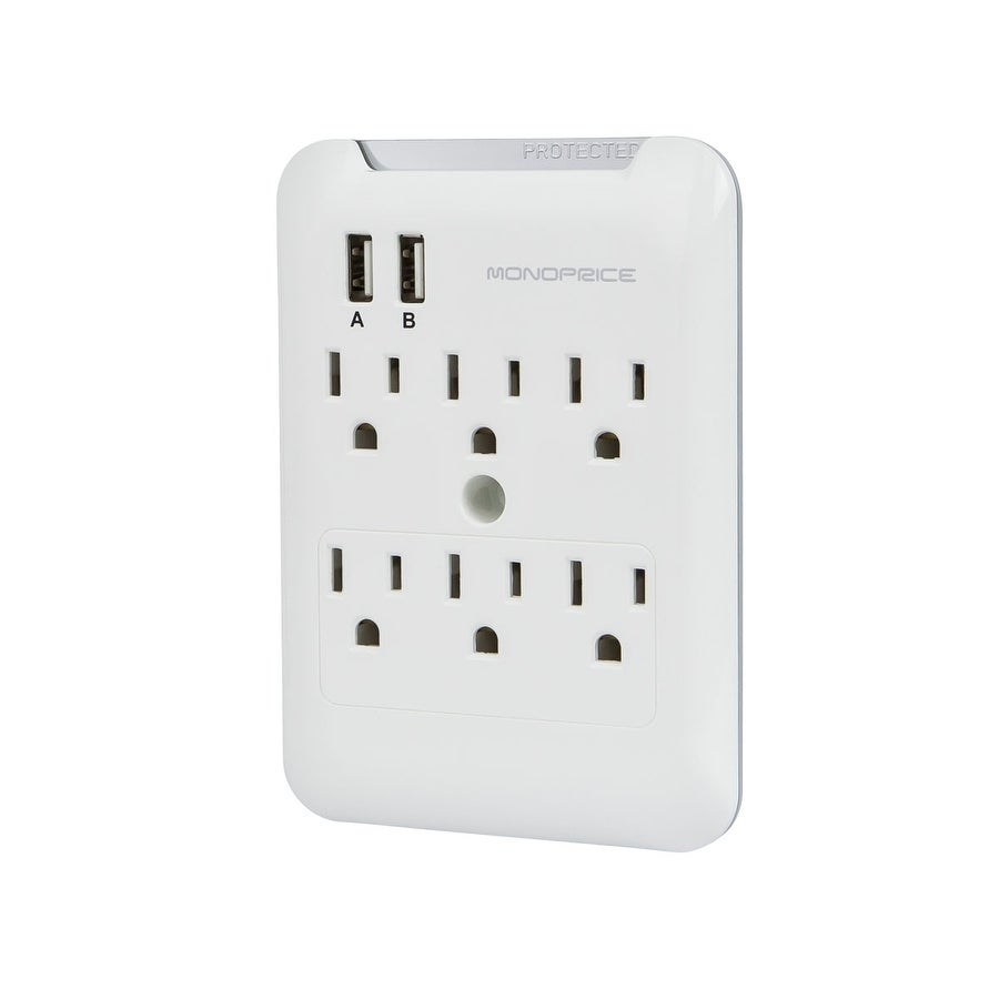 APC 6-Outlet Wall Charging Ports Protector Strip Power Surge with USB