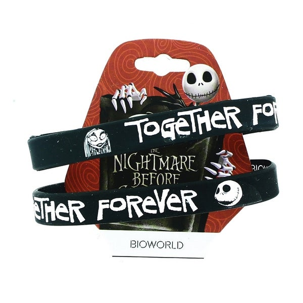 "Nightmare Before Christmas ""Together Forever"" Wristband Set"