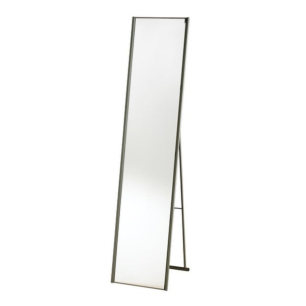 Adesso WK2444-22 Alice Floor Mirror - Satin Steel