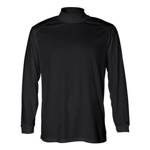Badger B-Core Long Sleeve Mock Turtleneck - Black - XL