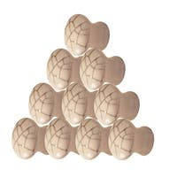 10 Cabinet Knobs Porcelain Pull Crazed 3/4 D  | Renovator's Supply