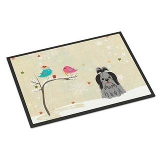 Carolines Treasures BB2561JMAT Christmas Presents Between Friends Shih Tzu Black Silver Indoor or Outdoor Mat 24 x 0.25 x 36 in.