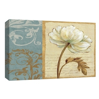 """PTM Images 9-153858  PTM Canvas Collection 8"""" x 10"""" - """"White Beauty I"""" Giclee Flowers Art Print on Canvas"""