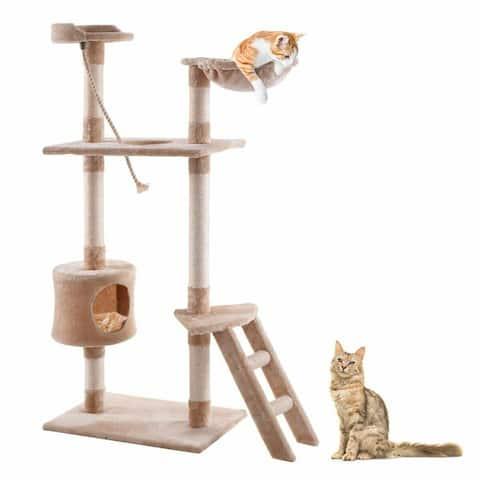 60 Tower Kitten Hammock Condo Cat Tree