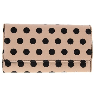 Kenneth Cole Reaction Womens Faux Leather Polka Dot Clutch Wallet
