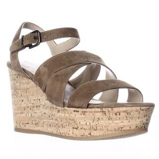 Via Spiga Kendall Platform Wedge Strappy Sandals - Rattan