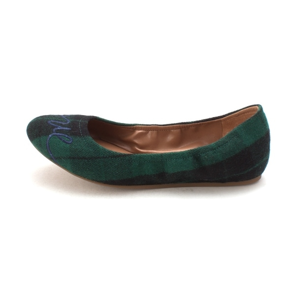 819cbcc3646 ED Ellen DeGeneres Womens Langston Fabric Round Toe Ballet Flats -  green black montauk