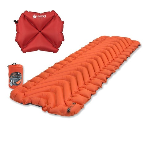 Klymit Insulated Static V Orange Sleeping Mat w/ Pillow X Red