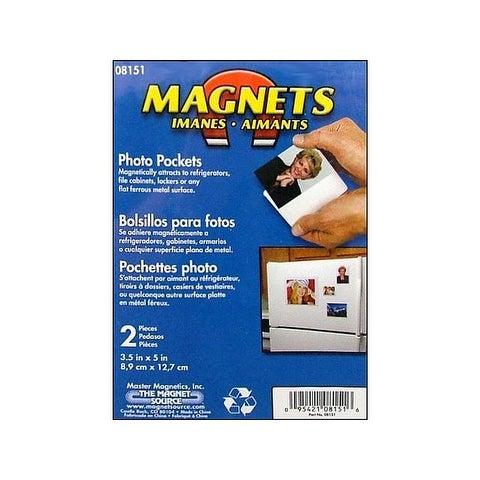 "The Magnet Source Magnet Photo Pocket 3.5x5"" 2pc"