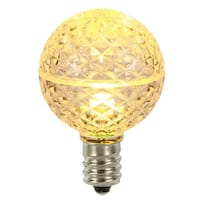Club Pack of 25 LED G50 Warm Clear Replacement Christmas Light Bulbs - E17 Base
