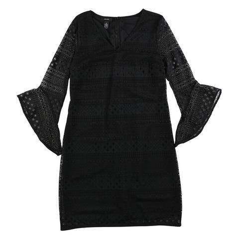 Alfani Womens Lace Shift Dress