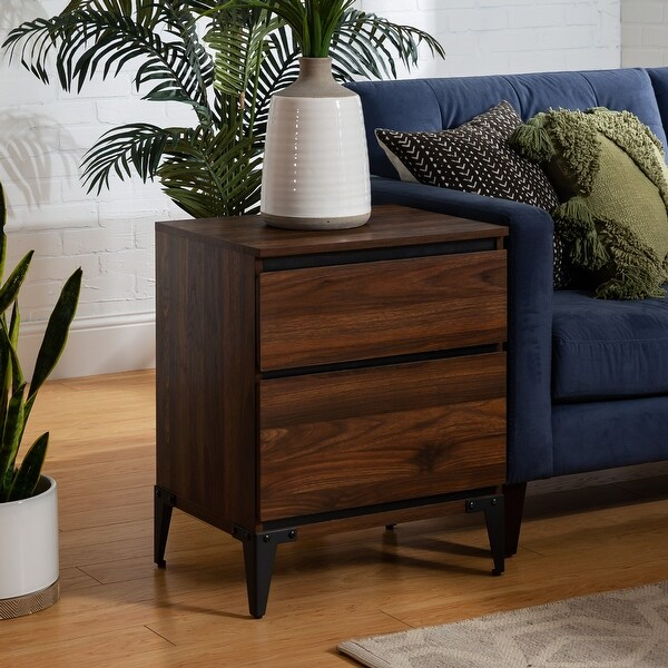 """Strick & Bolton 20"""" 2-Drawer Side Table. Opens flyout."""