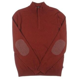 BOSS Hugo Boss Mens Wool Long Sleeves 1/2 Zip Sweater - M