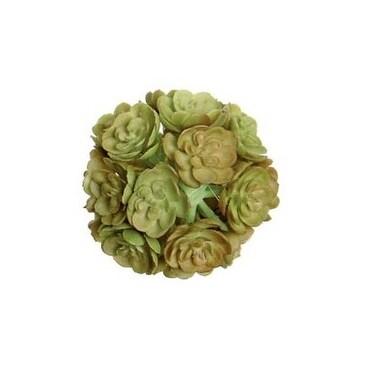 "2"" Pink and Light Green Decorative Artificial Mini Echeveria Succulent Orb"