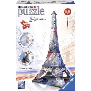 Eiffel Tower Flag Edition 216 Piece 3D Puzzle