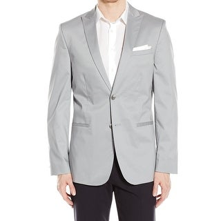 Calvin Klein NEW Gray Slim Fit Mens Size XL Two Button Sportscoat