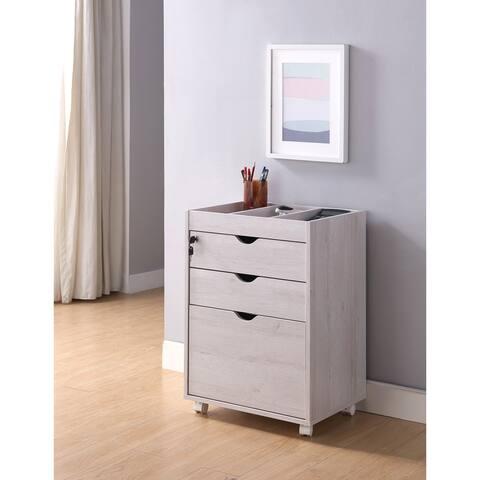 Furniture of America Jolene Lockable and Mobile File Cabinet