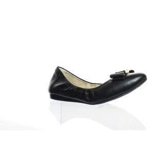 Cole Haan Womens D43262 Black Leather Ballet Flats Size 8 (C,D,W)