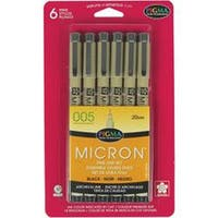 Black - Pigma Micron Pens 005 .2Mm 6/Pkg