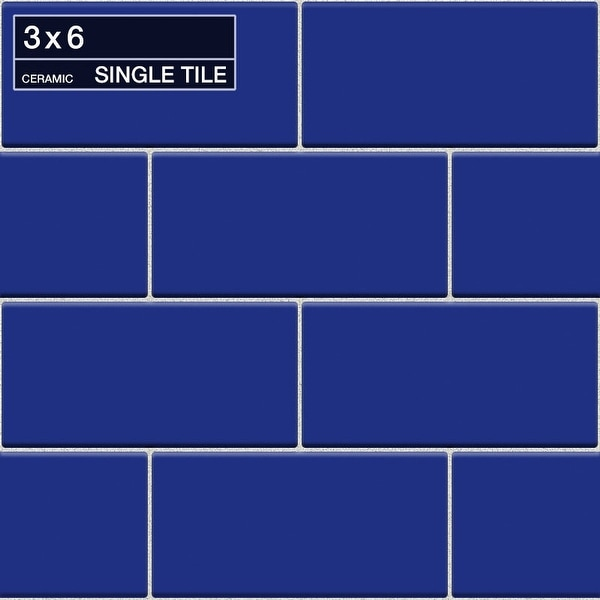 "Daltile DM36MODP Rittenhouse Square - 6"" x 3"" Rectangle Wall Tile - Semi-Gloss Tile Visual - Cobalt"