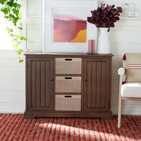 "Safavieh Landers 2-Drawer and 3 Removable Baskets - 39.8"" W x 12.5"" L x 29.5"" H"