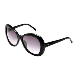 John Galliano Women's Oversized Round Frame Sunglasses Black - Small