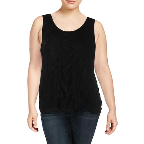 NY Collection Womens Blouse Embellished Sleeveless - XL