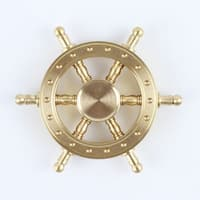 Hand Fidget Spinner - Ship Wheel - Stress and Anxiety Reliever - GOLD