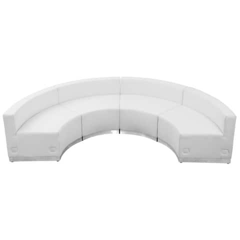 """Hercules Alon Series Leather 4-piece Reception Configuration - 105""""W x 25.25"""" - 52.5""""D x 27""""H"""