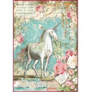 Stamperia Rice Paper Sheet A4-Wonderland Unicorn