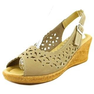 Spring Step Betsey Women Open Toe Suede Wedge Sandal