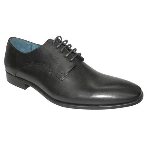 Giorgio Brutini Mens Genuine Leather Blucher Lace up Oxfords - Black - Size 15