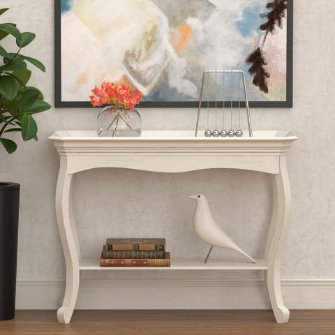 COZAYH French Country Tray Top Console Table