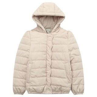Richie House Girls' winter padding jacket with ruffled placket
