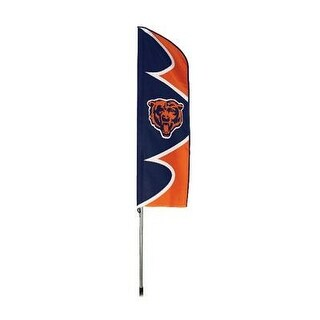 Party Animal Chicago Bears Nfl Swooper Flag And Pole